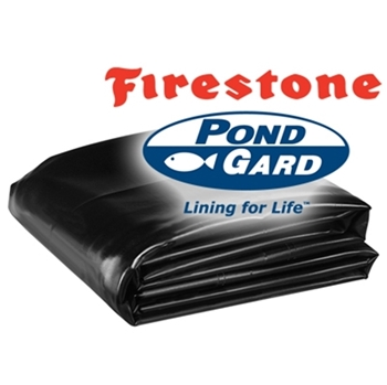 40' x 40' Firestone PondGard 45 mil EPDM Pond Liner