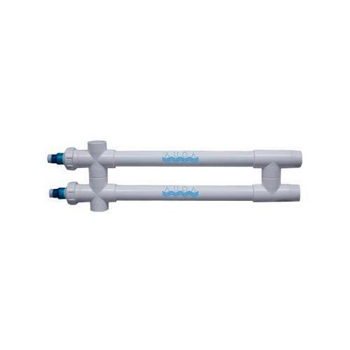 """Aqua Ultraviolet Classic 80 Watt UV Sterilizer 2"""" Black Wiper 2/L 2-Inline Transformers 220V/60Hz"""