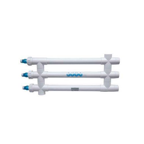 "Aqua Ultraviolet Classic 120 Watt UV Sterilizer 2"" Black 3/L 3/Inline Tranformers 220V/60Hz"