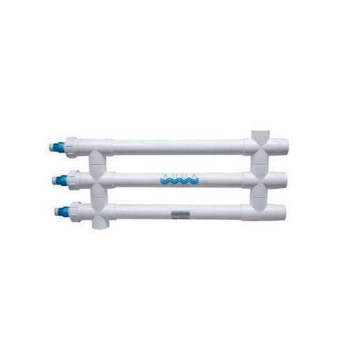 "Aqua Ultraviolet Classic 120 Watt UV Sterilizer 3"" White 3/L Inline Transformer 120V/60Hz"