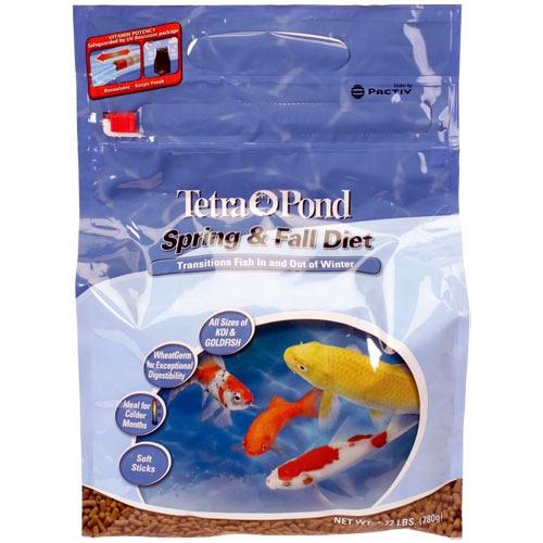 Tetra Pond Spring & Fall Diet Wheat Germ Fish Food  - 1.72 lbs.