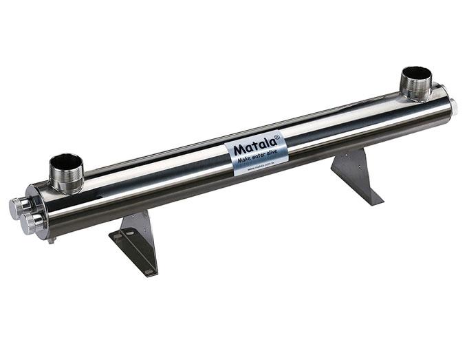"Matala Spectrum 150 Watt Stainless Steel UV-C Sterilizer -2"" (with 2"" Unions)"