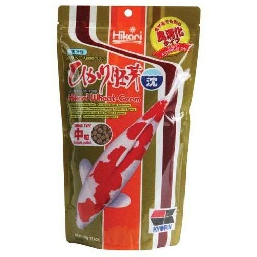 Hikari Wheat Germ Koi Fish Food (Sinking) - 17.6 oz. (Medium Pellets)