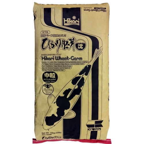 Hikari Wheat Germ Koi Fish Food (Sinking) - 33 lbs. (Medium Pellets)