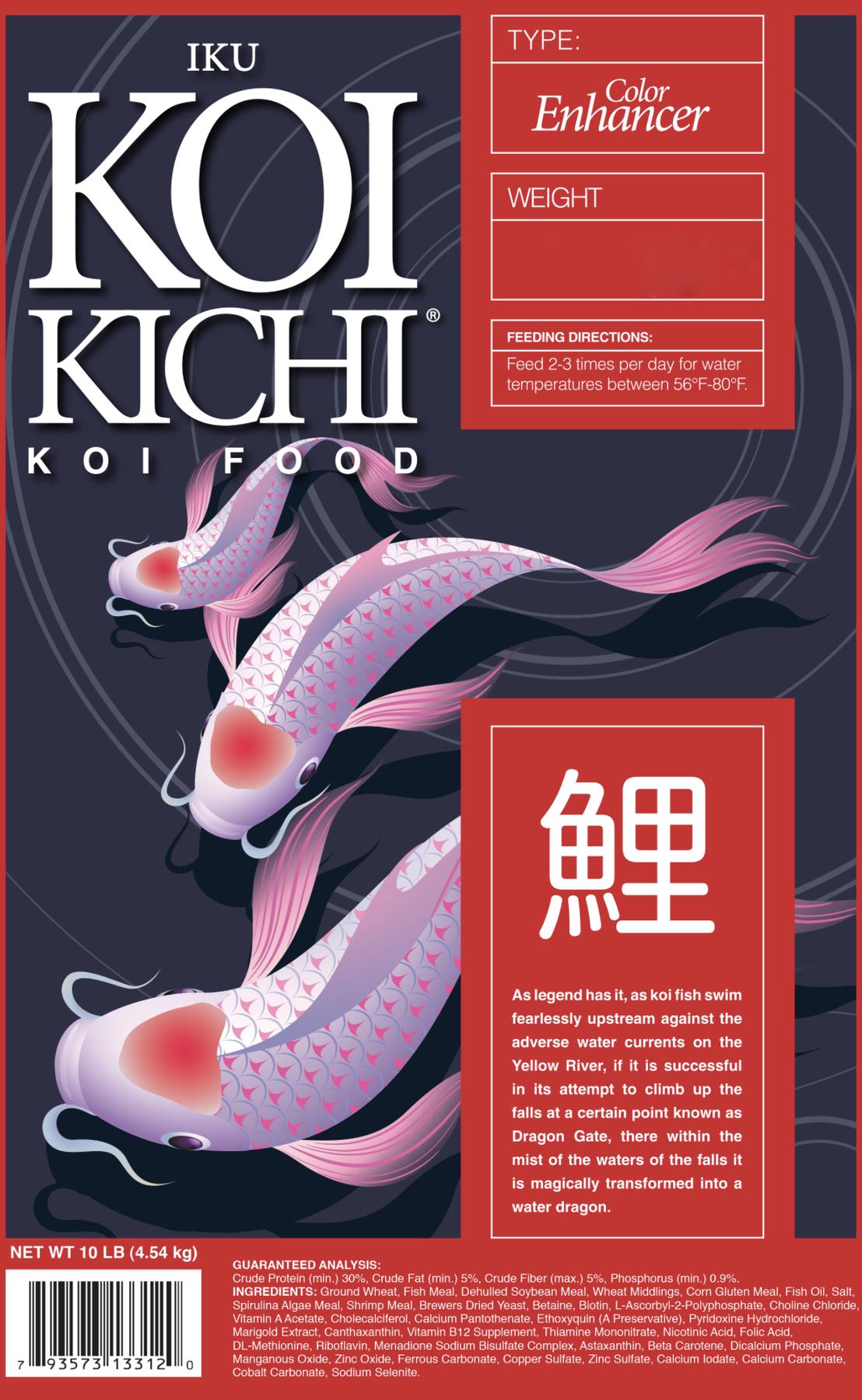 Iku Koi Kichi Color Enhancer Koi Fish Food - 10 lbs.