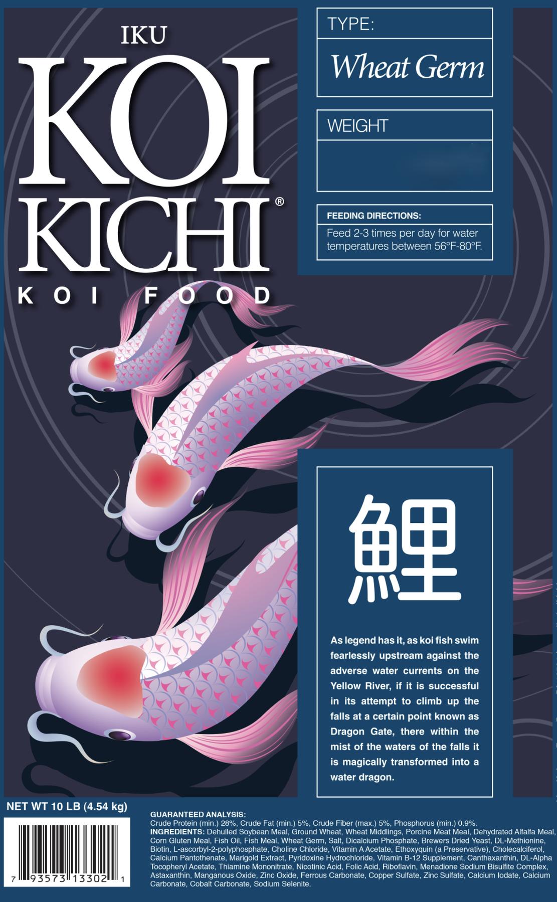 Iku Koi Kichi Wheat Germ Koi Fish Food - 16 lbs. (Bucket)