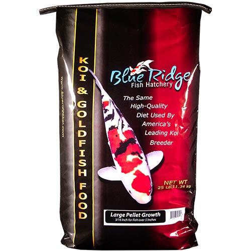 Blue Ridge Growth Koi Fish Food - 25 lbs. (Large Pellet)