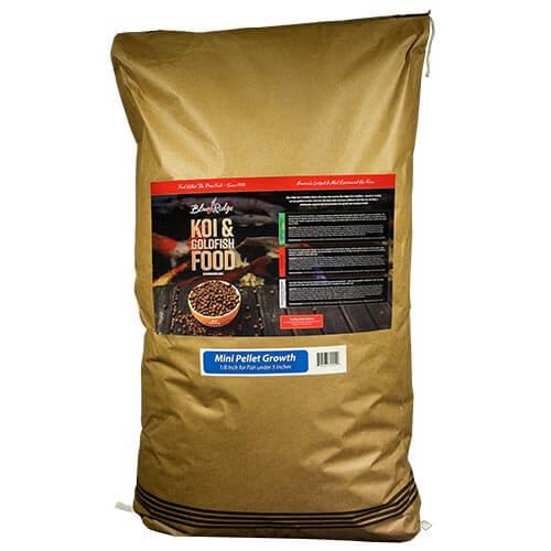 Blue Ridge Growth Koi Fish Food - 50 lbs. (Mini Pellet)