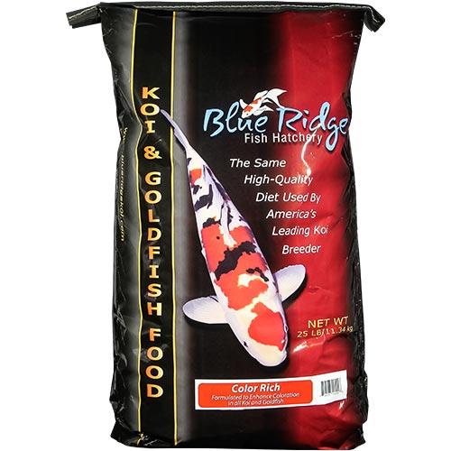 Blue Ridge Color Rich Koi Fish Food - 25 lbs. (Large Pellet)